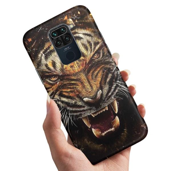 Xiaomi Redmi Note 9 - Skal / Mobilskal Rytande Tiger