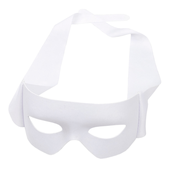 Zorro Ögonmask / Revenge Eye Mask - Vit - Halloween & Maskerad
