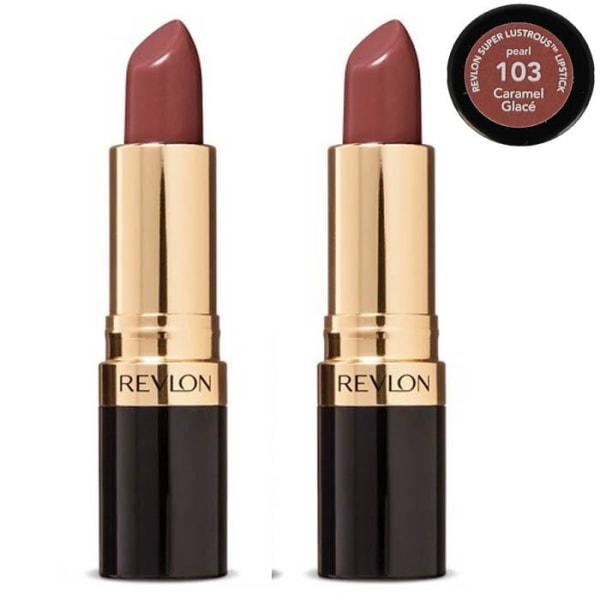2st Revlon Super Lustrous PEARL Lipstick - Caramel Glace Brun