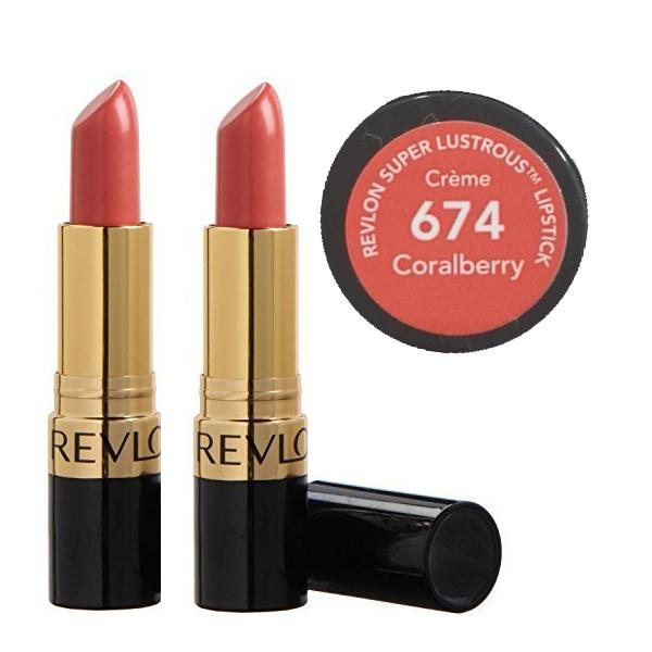 2stRevlon Super Lustrous Creme Lipstick - 674 Coralberry