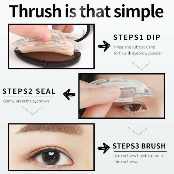 Baolishi 3S Quick Make-up Printing Eye Brows-Shade6 Golden Brown