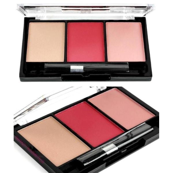 Body Collection Trio Blush Palette-Nude Pink + Dark Peach Pink+R