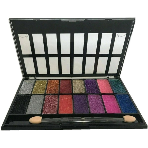 Saffron 16 Glitter Gel Sparkle Pearl Eye Shadow Palette