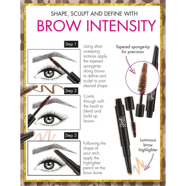 Sleek Brow Intensity Brow Gel and Highlighter - 215 Light