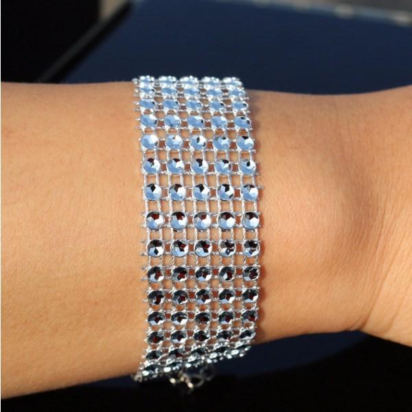 Glittrande Vintage Silver Armband - 5-radigt  Silver