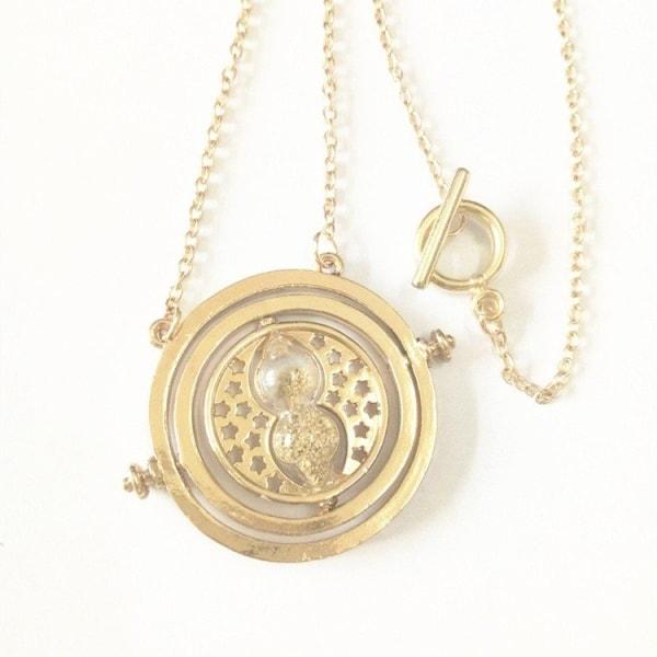 Harry Potter Guld Halsband - Hermiones Time Turner - Beige Sand Guld