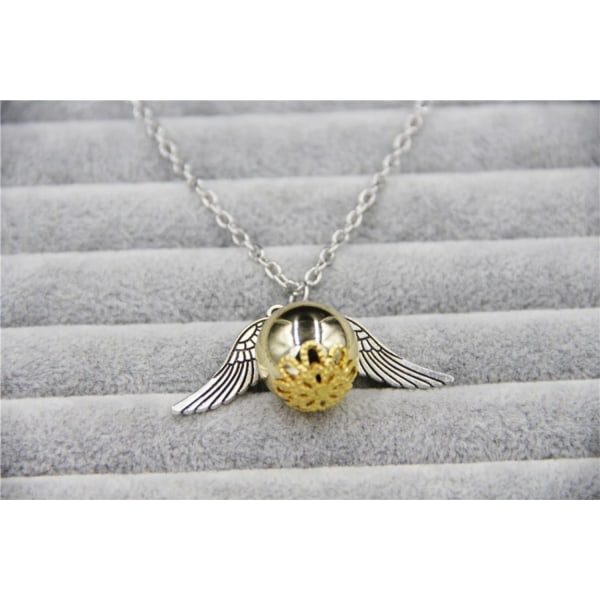 Harry Potter Halsband - Gyllene Kvicken - Golden Snitch - Silver Silver