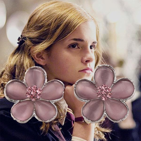 Harry Potter Örhängen - Hermione - Yule Ball - Rosa Blommor Silver