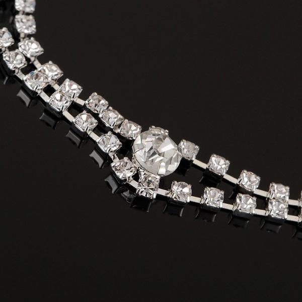 Silver Hårsmycke Håraccessoar Hårband Diadem med Rhinestones Silver