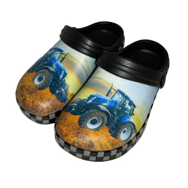Plasttofflor Blå Traktor 26
