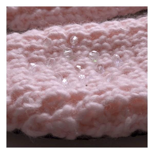 Stickade tofflor | rosa | Halkskydd Rosa