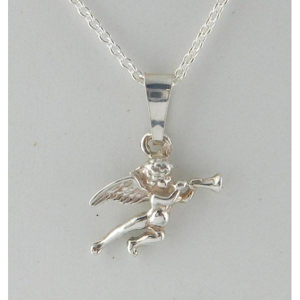 VJ Since 1890 SilverHalsband Ängel Silver