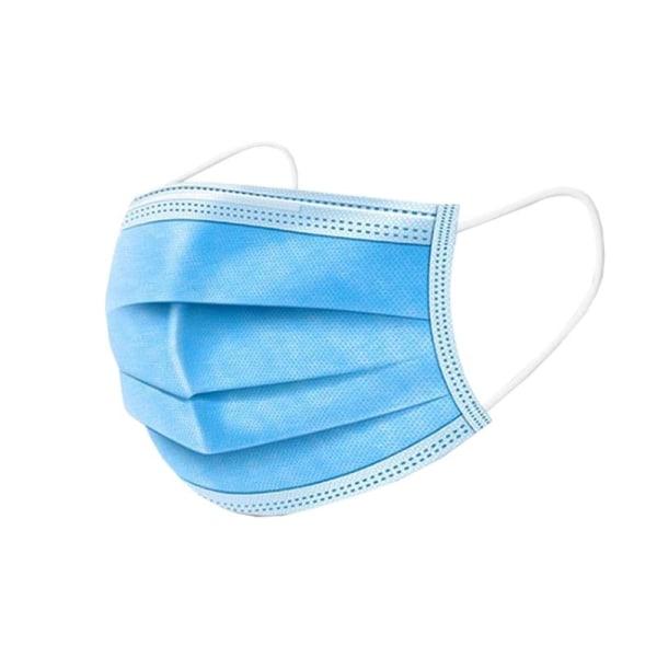 100x Andningsmask med 3 lager, Blå - CE Blå