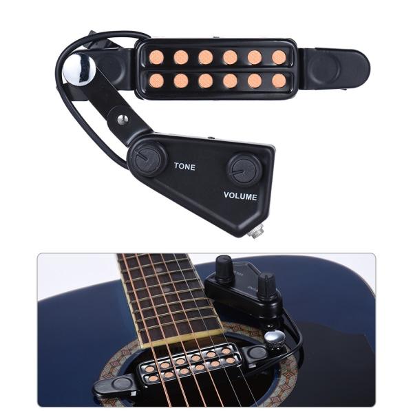 12-håls Mikrofon till Akustisk Gitarr Svart