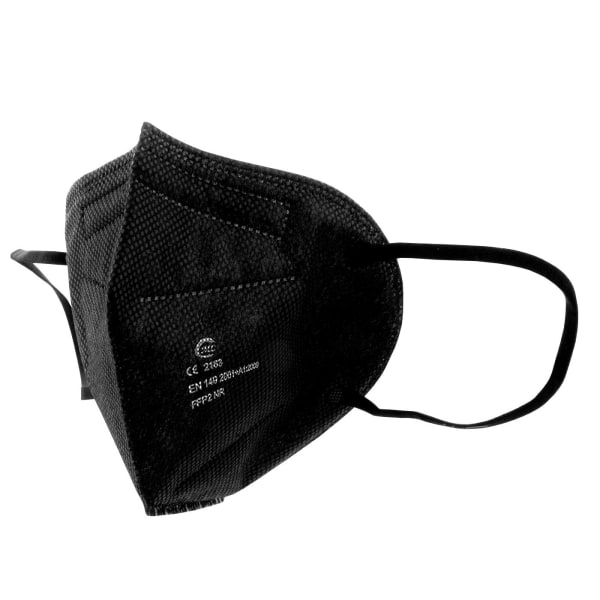 20x Ergonomisk Andningsmask - FFP2 Svart