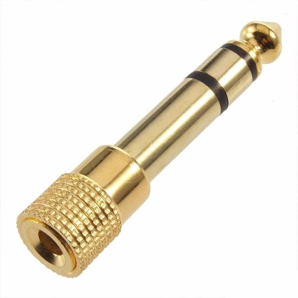 3,5mm Hona till 6,5mm Hane Adapter Guld