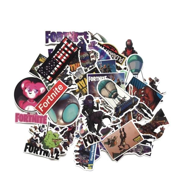 50st Fortnite Klistermärken - Återanvändbara multifärg