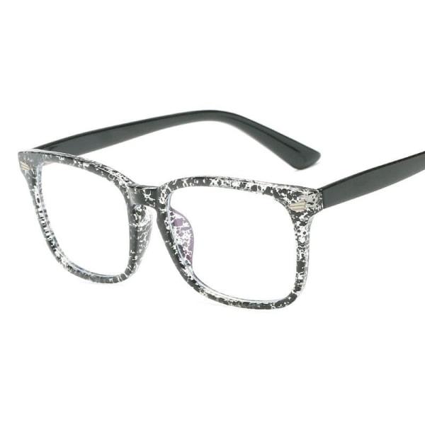 Anti blått ljus / Anti Blue Light Glasögon - Prickig Svart one size