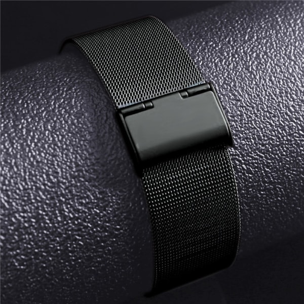 Apple Watch 42 mm Band Rostfritt stål Milanesisk Loop - Svart Black 42 mm