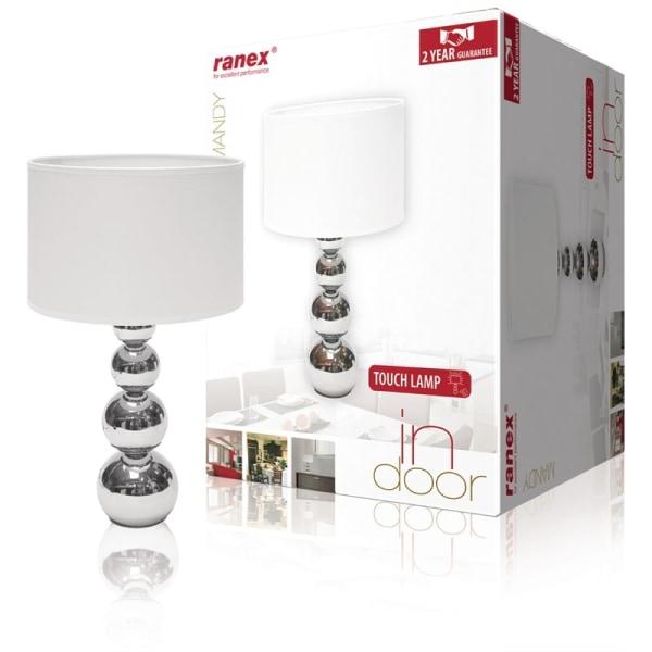 Bordslampa med Touchfunktion - 40W, Krom / Vit Vit