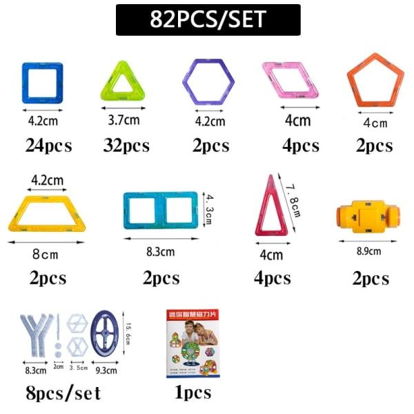 Byggdelar för barnlek - En perfekt present för barn (82 st) Multifärg