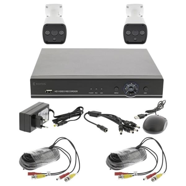 CCTV set - Full HD DVR, 1TB HDD, 2x Övervakningskameror Svart