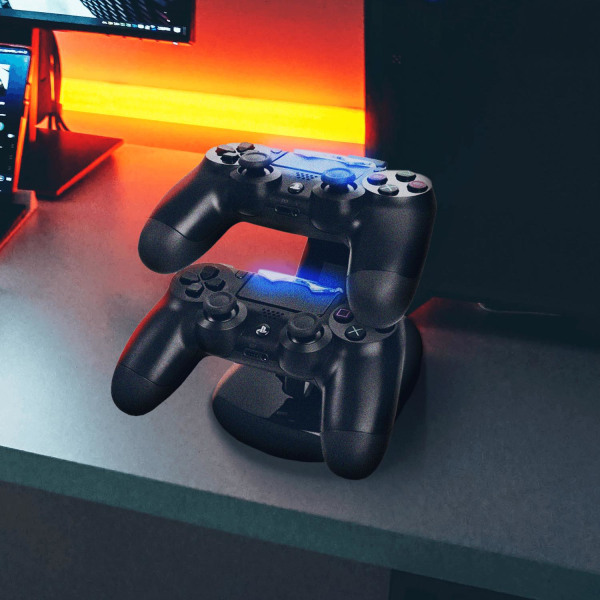 Dubbel Laddningsstation för PS4 Kontroller Svart