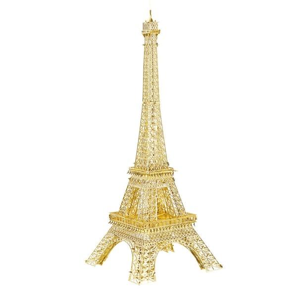 Eiffeltornet, 3D Modell Byggsats i Metall - Guld Eiffel Tower