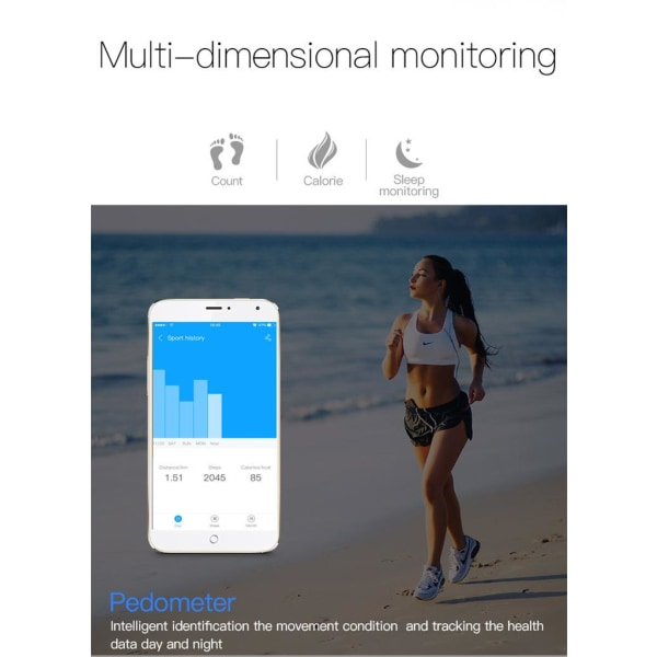 F2 Cubes Fitness Tracker - Träningsarmband Lila