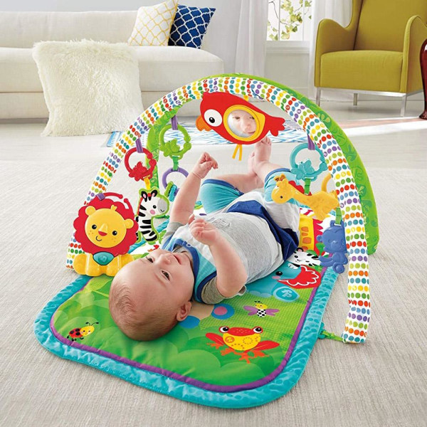 Fisher-Price, 3-i-1 Babygym - Rainforest Friends multifärg