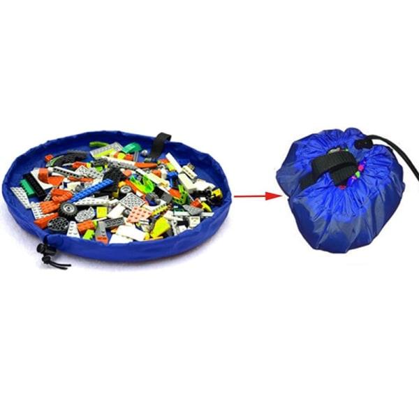 Förvaringspåse / Lekmatta för Leksaker - Blå Blå