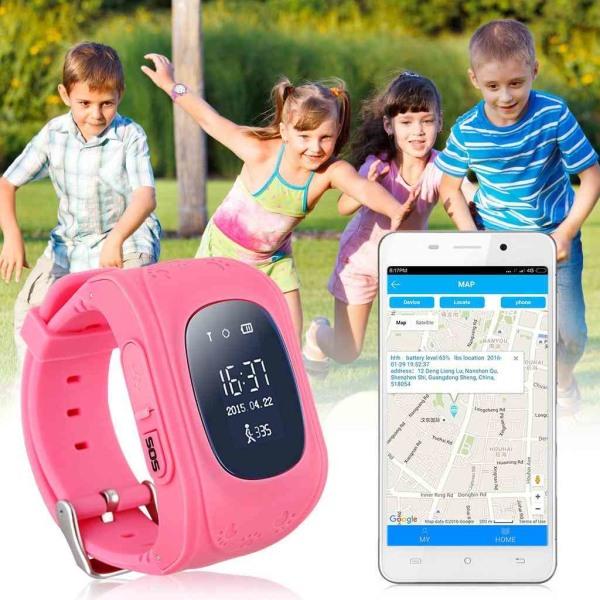 GPS Smartklocka för Barn - Mörkblå Blå one size