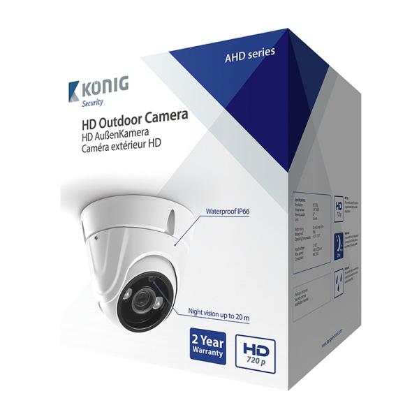 HD Kupol Övervakningskamera IP66 Vit Vit