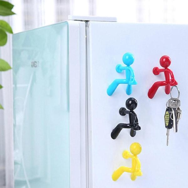 Klättrande Gubbe kylskåpsmagnet - Svart Svart
