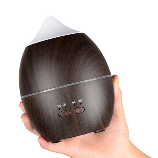 Luftfuktare, 300 ml - Mörkt trä  Brun