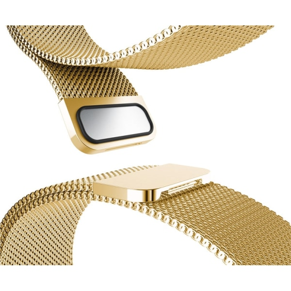 Milanese Loop armband kompatibelt med Fitbit Alta HR - Guld Guld one size