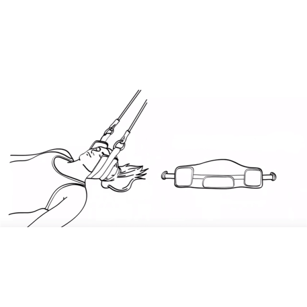 Neck Hammock, Portabel Avspänning & Smärtlindring för Nacken Svart