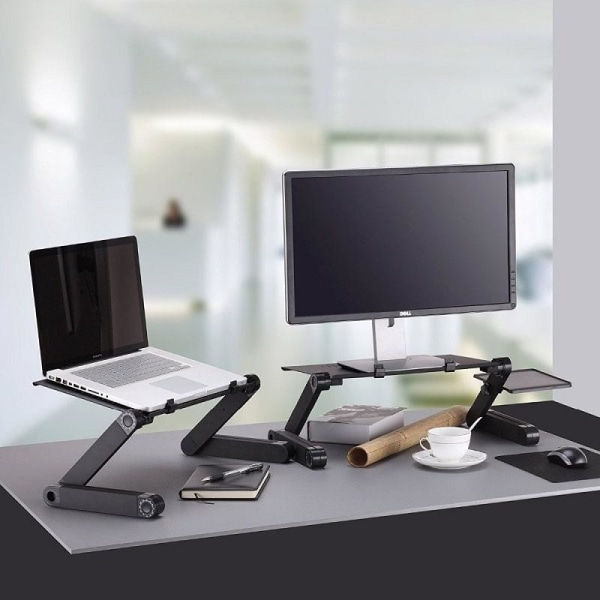 Northio - Laptopbord med Musmatta Svart