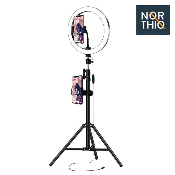 Northio, Ring Light (26 cm) - Justerbart Stativ Svart