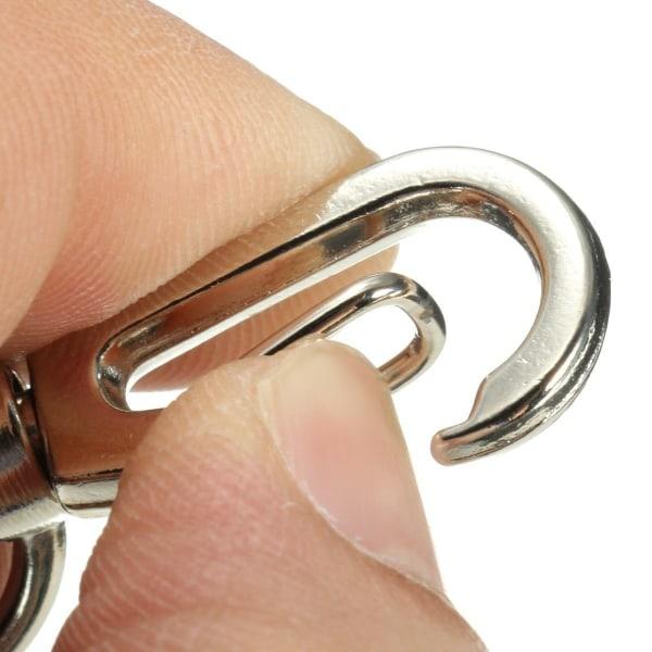 Nyckelhållare med jojo-funktion, Karbinhake Silver