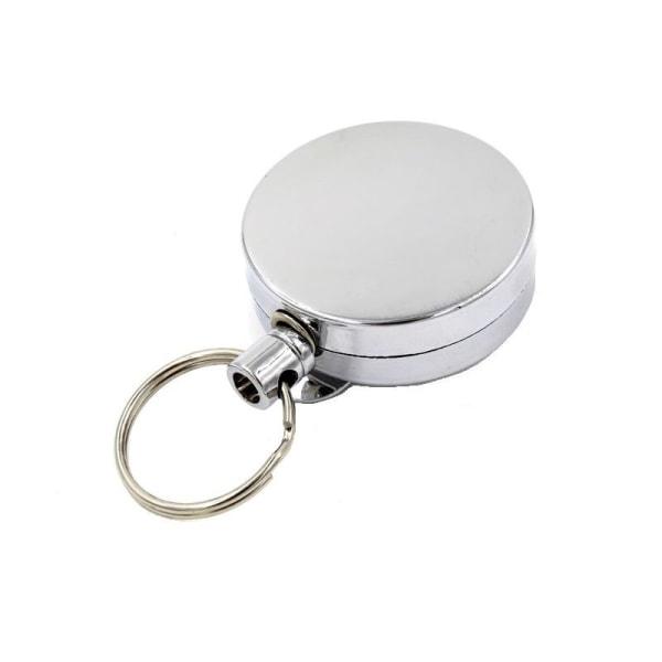 Nyckelhållare med jojo-funktion Silver