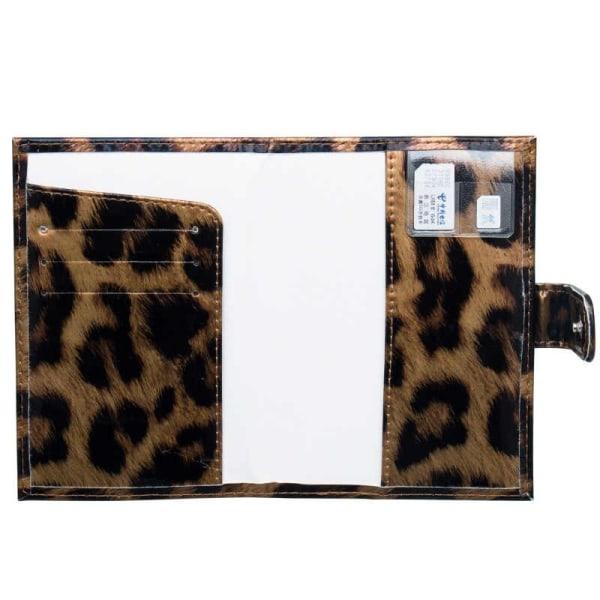 Passfodral, Leopard - Brun multifärg