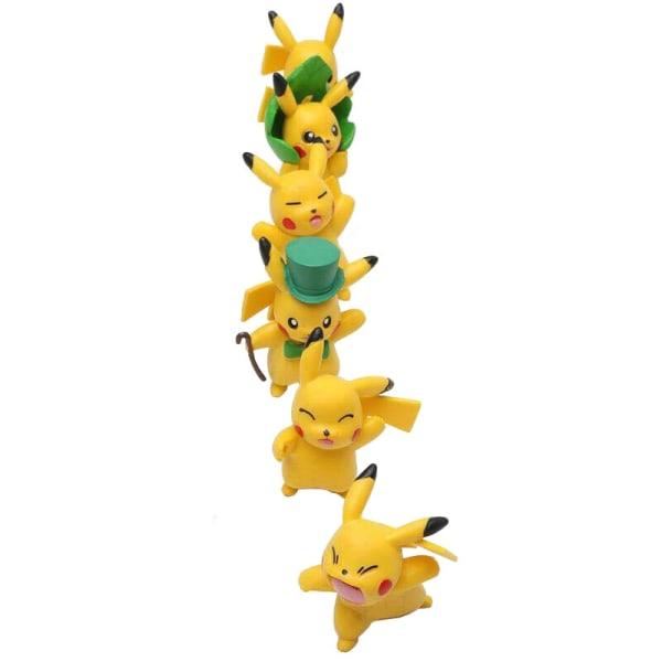 Pokémon Pikachu Små Figurer, 6x multifärg