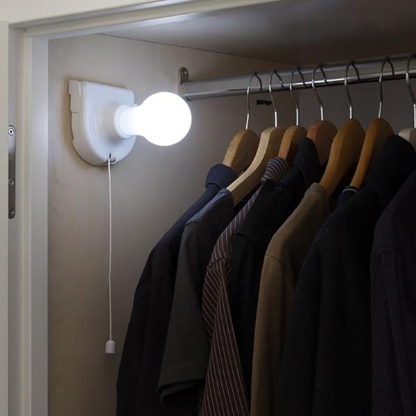 Portabel LED-glödlampa Vit
