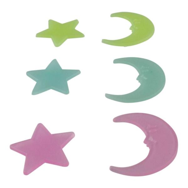 Självlysande Dekorationer - Månar och Stjärnor Multifärg