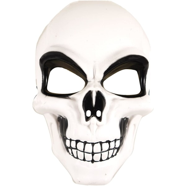 Skelettmask, Maskerad - Halloween Vit