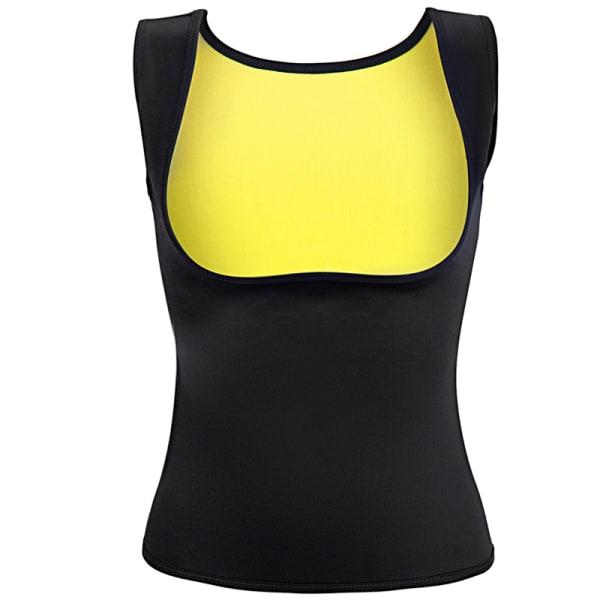 Slimming top för träning - Gul Yellow S