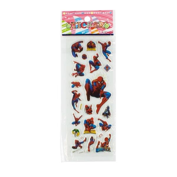 Spider-Man Klistermärken i 3D - 6 st Ark (ca 72 st) multifärg