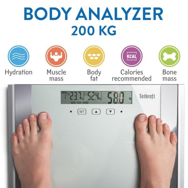 Tatkraft, Fitness - Smart Personvåg Silver