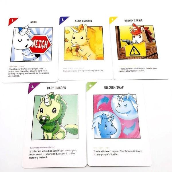 Unstable Unicorns kortspel multifärg